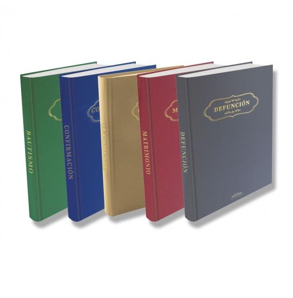 Lote 5 Libros Inscrición Sacramental