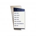 Señalizador o cartel informador sobre material rígido