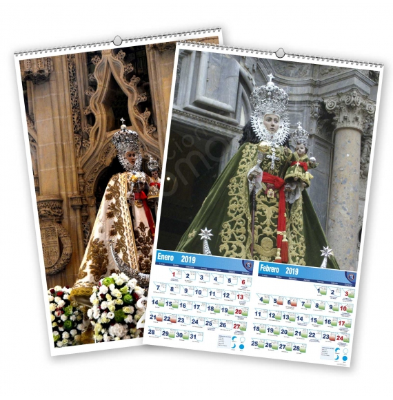 Calendario bimensual de pared 7 Hojas La Fuensanta
