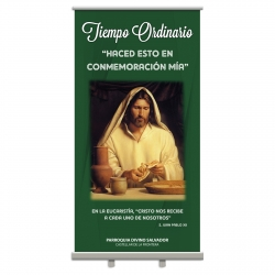 Display Enrollable Tiempo Ordinario 100x200 cm