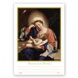 Record. Bautismo Bolsa 25 Unid Cuidados de La Virgen (Sassoferrato)