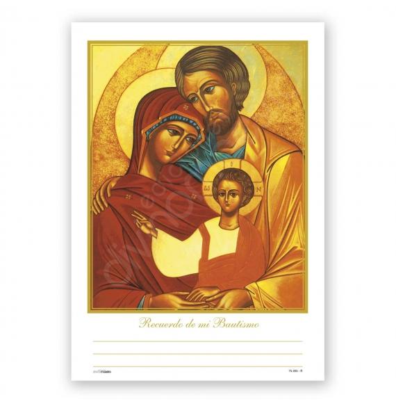 Record. Bautismo Bolsa 25 Unid Sagrada Familia Icono
