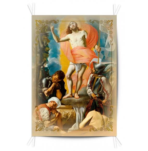 Balconera Tela Resurreción de Cristo 70x100