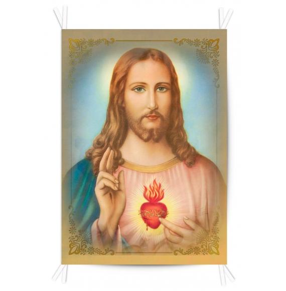 Balconera Tela Sagrado Corazón 70x100