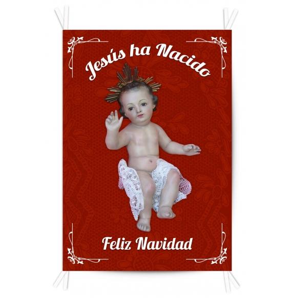 Balconera Tela Jesús ha Nacido 70x100
