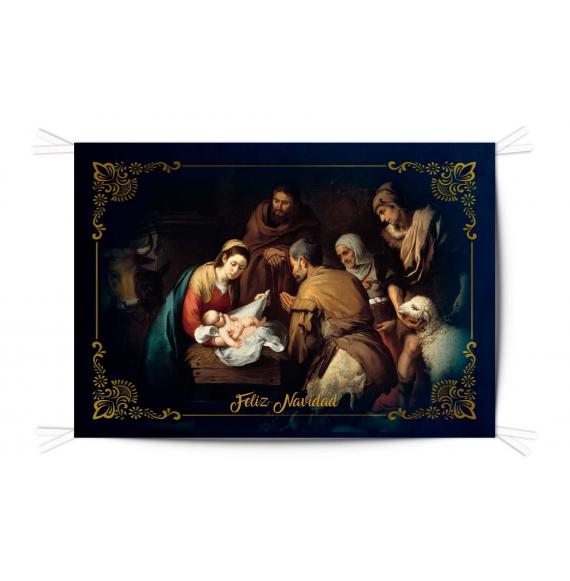 Balconera Tela Feliz Navidad 100x150