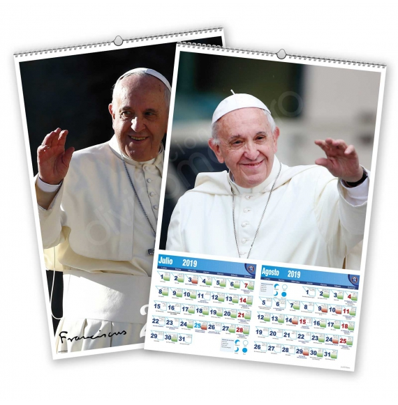 Calendario bimensual de pared 7 Hojas Papa Francisco