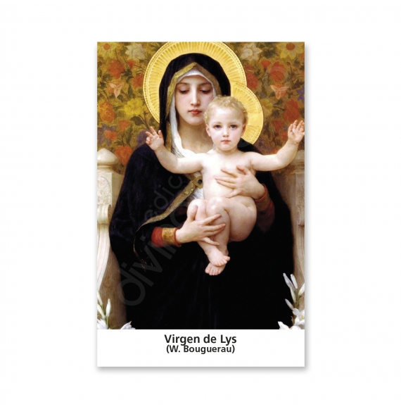 100 Estampas -  Virgen de Lys (Bouguerau)